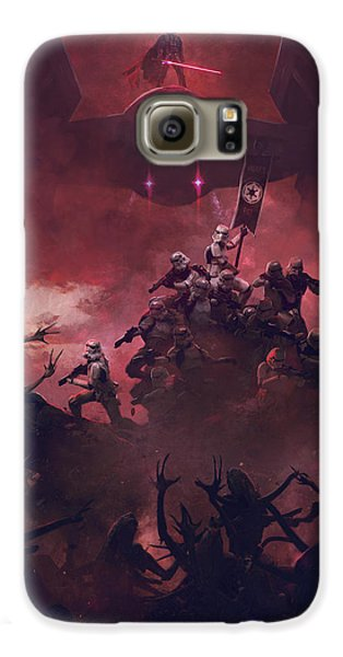 Outer Space Galaxy S6 Case - Vader Vs Aliens 4 by Guillem H Pongiluppi