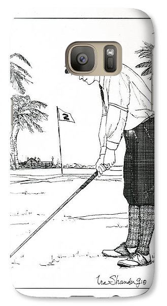 Galaxy Case featuring the drawing  1920's Vintage Golfer by Ira Shander