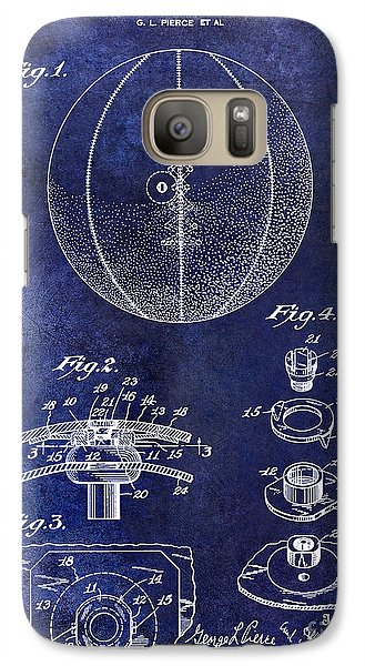 1927 Basketball Patent Drawing Blue Galaxy S7 Case
