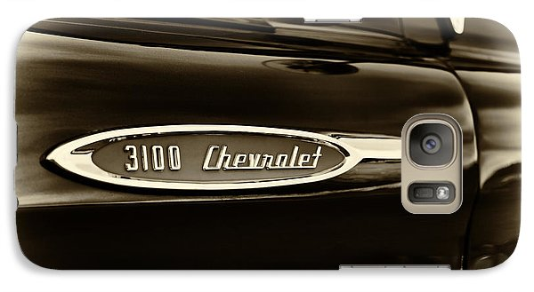 3100 Chevrolet Truck Sepia Galaxy S7 Case by Tim Gainey