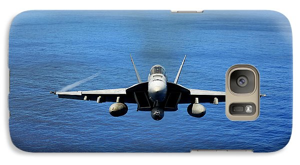 Galaxy Case featuring the photograph  A Fa-18 Hornet Demonstrates Air Power. by Paul Fearn
