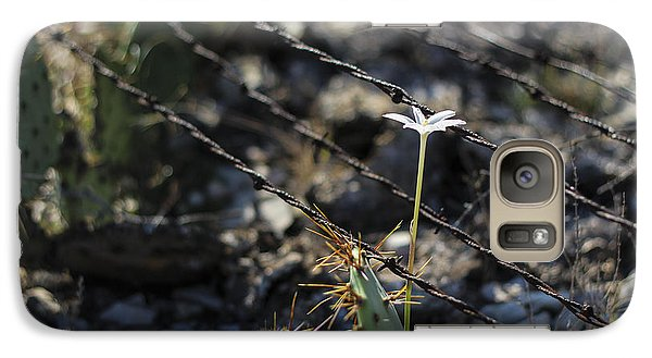 Galaxy Case featuring the photograph  A Flower Among Thorns by Amber Kresge