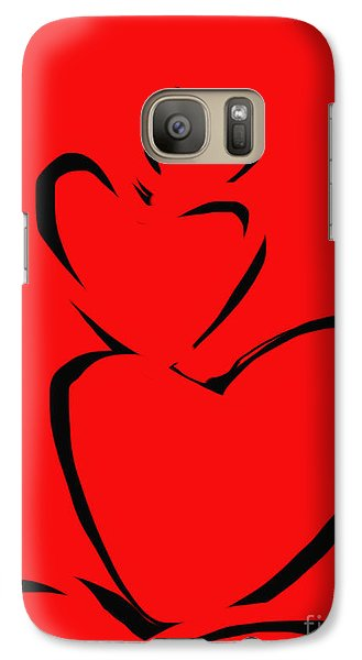 Galaxy Case featuring the painting  A Stack Of Hearts by Go Van Kampen