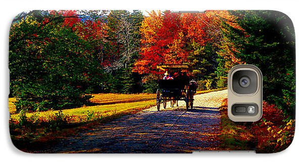 Galaxy Case featuring the photograph  Acadia National Park Carriage Trail Fall  by Tom Jelen