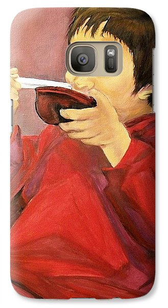 Galaxy Case featuring the painting  Asian  Doll by Sharon Duguay