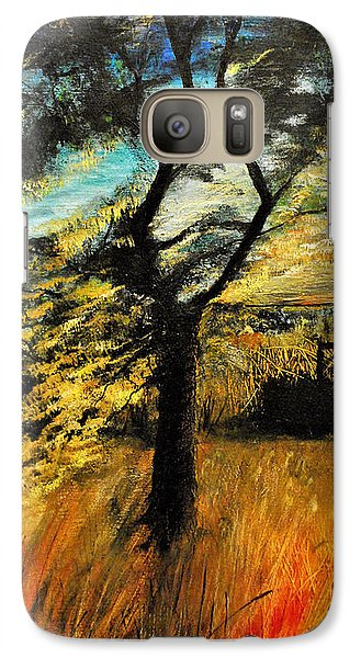 Galaxy Case featuring the painting  Autumn Tree by Maja Sokolowska