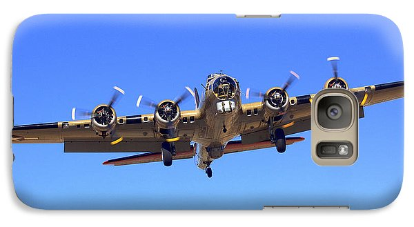 B17 Flying Fortress On Approach At Livermore Klvk Galaxy S7 Case