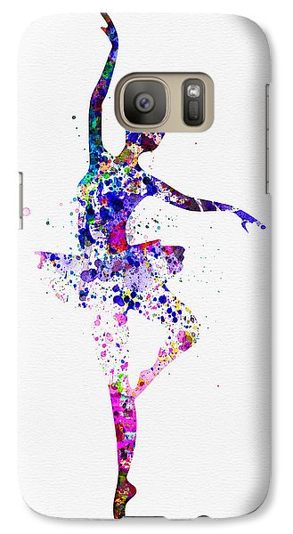 Ballerina Dancing Watercolor 2 Galaxy Case by Naxart Studio