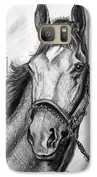 Galaxy Case featuring the drawing  Barbaro by Patrice Torrillo