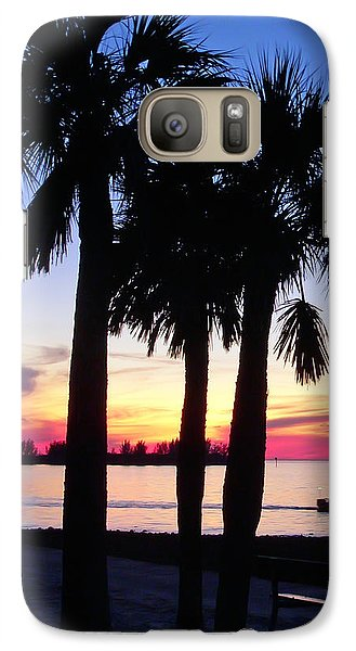 Galaxy Case featuring the photograph  Beach Sunset by Aimee L Maher Photography and Art Visit ALMGallerydotcom