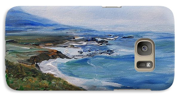 Galaxy Case featuring the painting  Big Sur Coastline by Eric  Schiabor