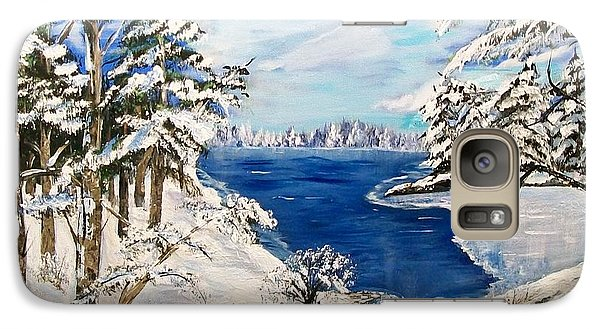 Galaxy Case featuring the painting  Blanket Of Ice by Sharon Duguay
