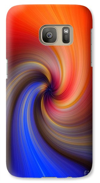 Galaxy Case featuring the photograph   Blue Into Orange by Trena Mara