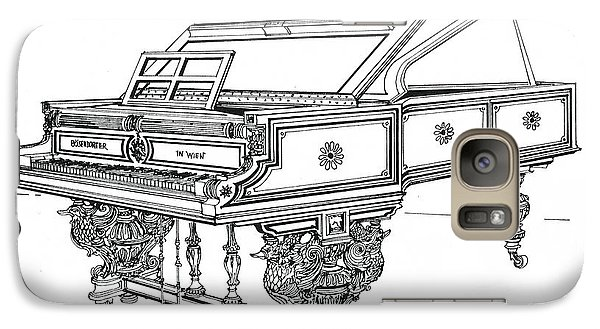Galaxy Case featuring the drawing  Bosendorfer Centennial Grand Piano by Ira Shander