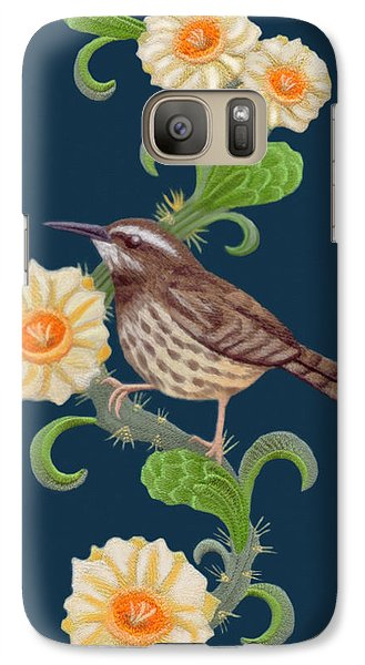 Galaxy Case featuring the digital art  Cactus Wren by Walter Colvin