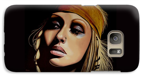 Rhythm And Blues Galaxy S7 Case -  Christina Aguilera Painting by Paul Meijering