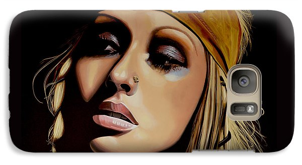 Christina Aguilera Painting Galaxy Case by Paul Meijering