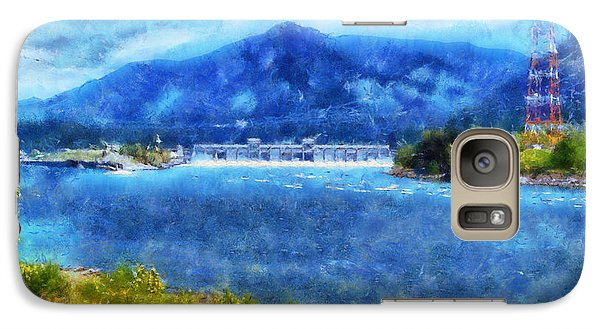 Galaxy Case featuring the digital art  Columbia River Gorge by Kaylee Mason