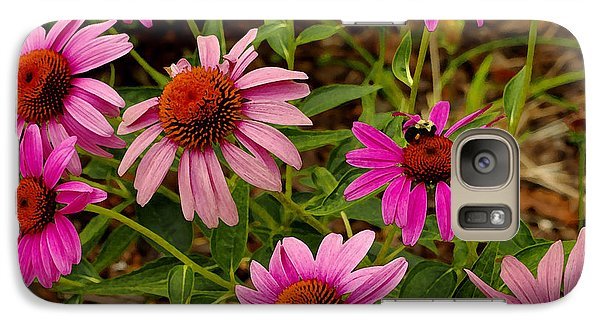 Galaxy Case featuring the photograph  Coneflower Gang  by James C Thomas