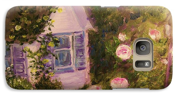 Galaxy Case featuring the painting   Cottage  In  The  Garden by Beth Arroyo