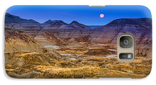 Galaxy Case featuring the photograph  Dinosaur Harvest Moon by Rob Tullis