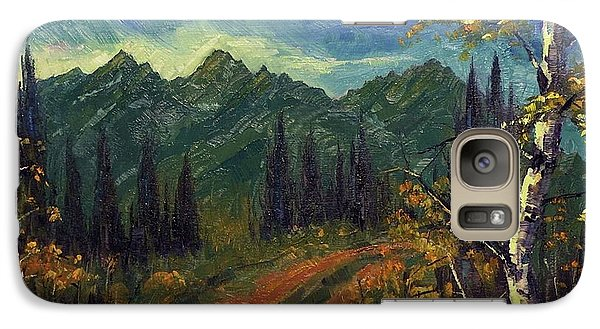 Galaxy Case featuring the painting  Earth Light Series by Len Sodenkamp