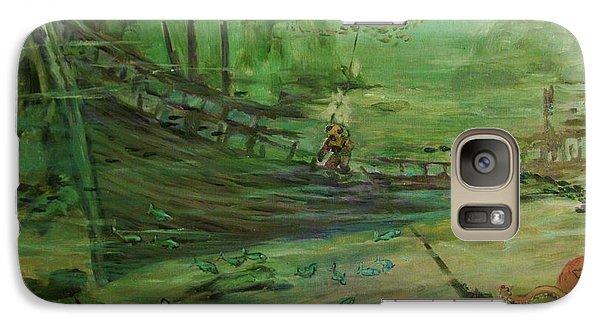 Galaxy Case featuring the painting  El  Explorador  1 by Beth Arroyo