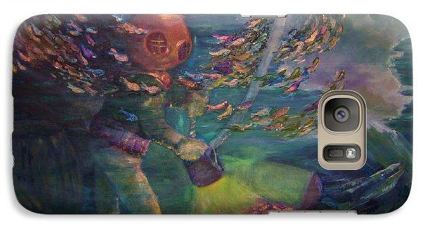 Galaxy Case featuring the painting  El Explorador  2 by Beth Arroyo