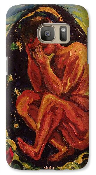 Galaxy Case featuring the painting   Evolution  Of  The  Soul by Beth Arroyo