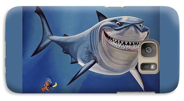 Sharks Galaxy S7 Case - Finding Nemo Painting by Paul Meijering