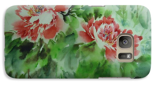 Galaxy Case featuring the painting  Flower0728-5 by Dongling Sun