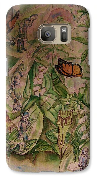 Galaxy Case featuring the painting  Frozen  Sorrow by Beth Arroyo