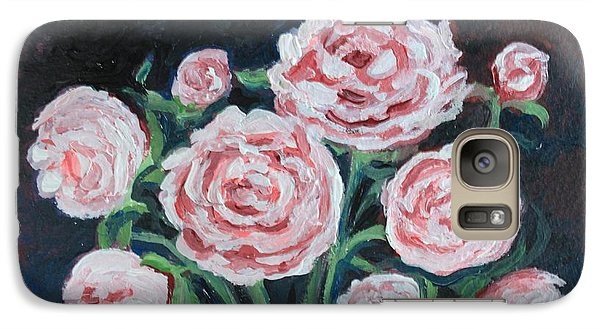 Galaxy Case featuring the painting  Graceful Peonies by Elizabeth Robinette Tyndall