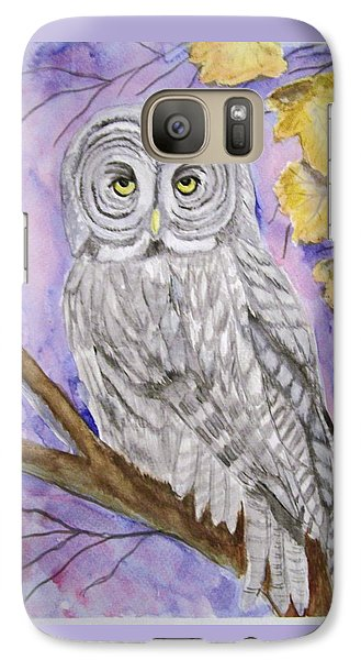 Galaxy Case featuring the painting  Grey Owl by Belinda Lawson