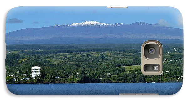 Galaxy Case featuring the photograph  Hawaii's Snow Above Hilo Bay Hawaii by Lehua Pekelo-Stearns