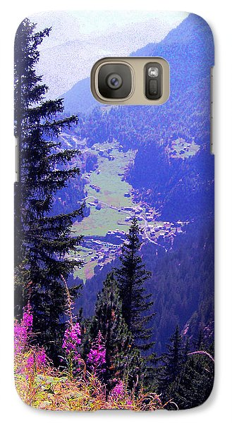 Galaxy Case featuring the photograph  High Mountain Pastures by Giuseppe Epifani