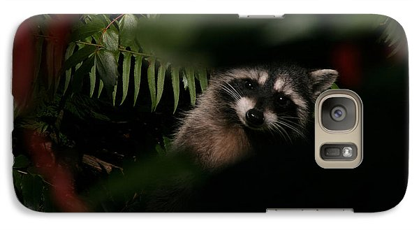 Galaxy Case featuring the photograph  I Can See You  Mr. Raccoon by Kym Backland