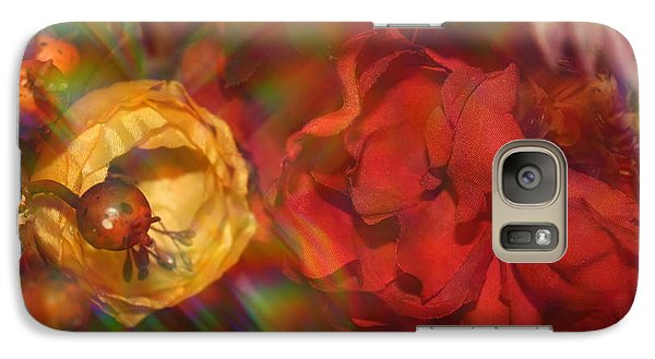 Galaxy Case featuring the photograph  Impressionistic Bouquet Of Red Flowers by Dora Sofia Caputo Photographic Art and Design