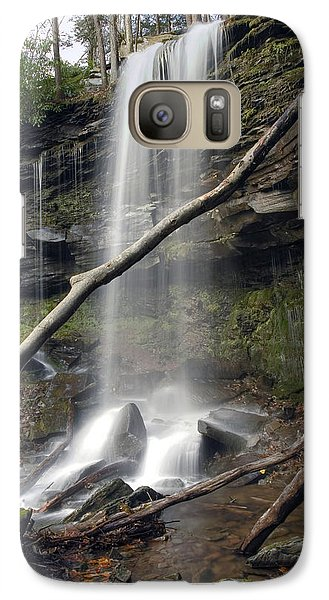 Galaxy Case featuring the photograph  Jocaby Falls Behind The Fallen Trees by Gene Walls
