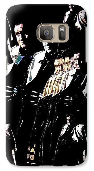 Galaxy Case featuring the photograph  Johnny Cash Multiplied  by David Lee Guss