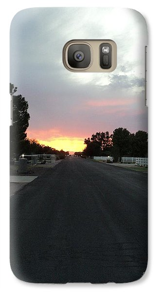 Galaxy Case featuring the photograph  Journey Into The Sunset by Carla Carson