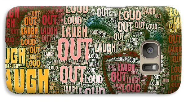 Galaxy Case featuring the photograph  Laugh Out Loud  by Linda Weinstock