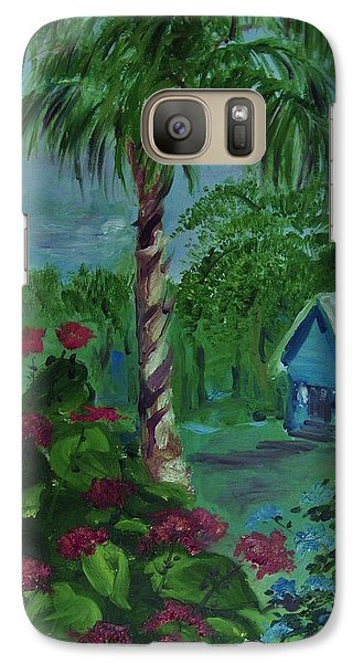Galaxy Case featuring the painting   Life's  Way by Beth Arroyo