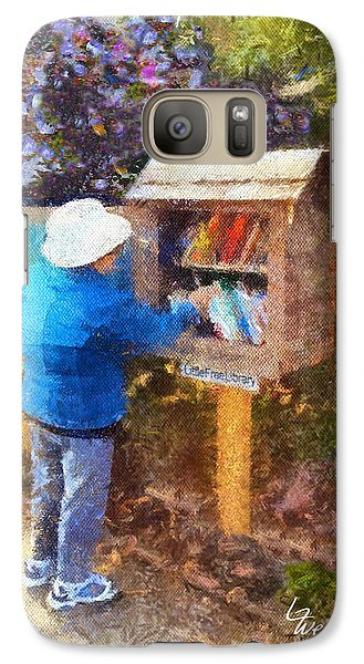 Galaxy Case featuring the painting  Alameda  Little Free Library by Linda Weinstock