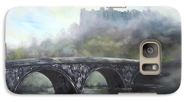Galaxy Case featuring the painting  Ludlow Castle In A Mist by Jean Walker