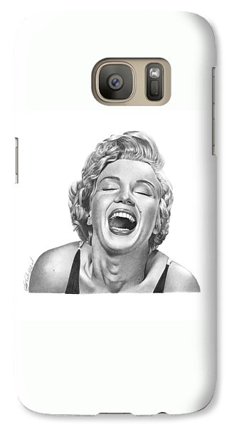 Galaxy Case featuring the drawing  Marilyn Monroe - 034 by Abbey Noelle