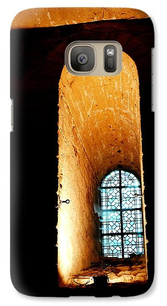 Galaxy Case featuring the photograph  Meditation - Deep Window Mont St Michel by Jacqueline M Lewis
