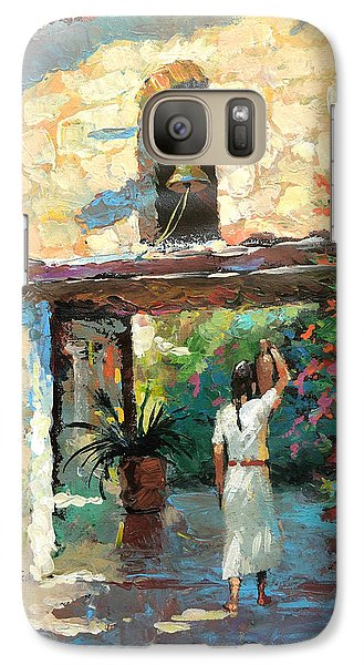 Galaxy Case featuring the painting -mexican Girl With Jug by Dmitry Spiros