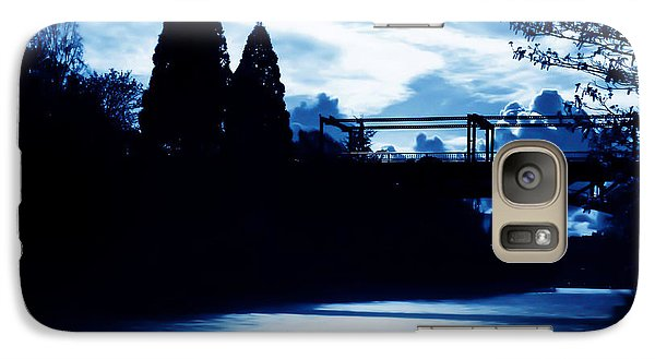 Galaxy Case featuring the photograph  Montlake Bridge In Seattle Washington At Dusk by Eddie Eastwood