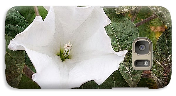 Galaxy Case featuring the photograph  Moonflower by Terri Harper